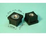Заглушка внутренняя 25х25х1,2 - 2 мм с гайкой М8