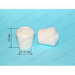 Заглушка наружная D=16мм (декоративная) белая
