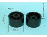 Колесо мебельное D=35 L=22 c утопленой ступицей