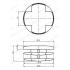 Заглушка внутренняя D=40 мм универсальная