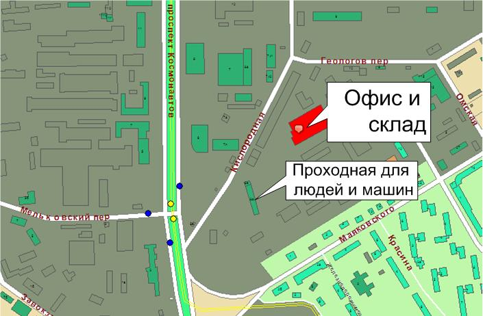 Карта проезда к офису Регион Пласт